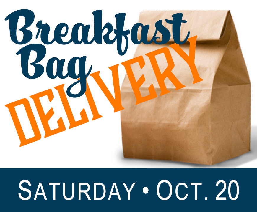 Saturday Breakfast Bag Delivery - October 20, 2018