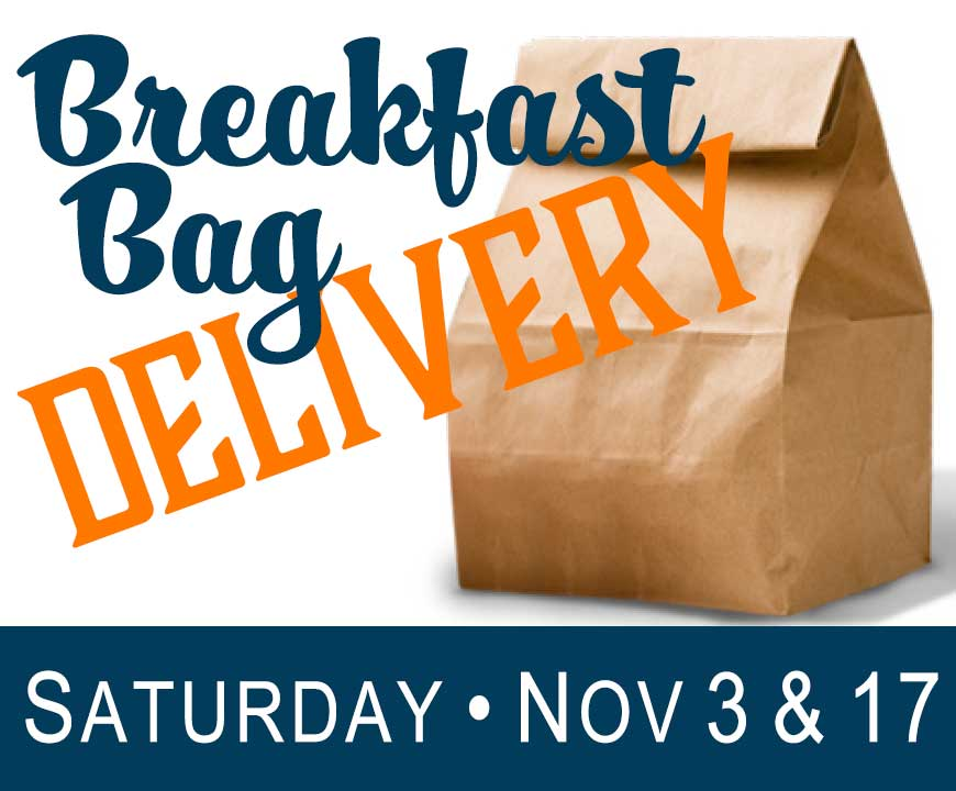 Saturday Breakfast Bag Delivery - November 2018