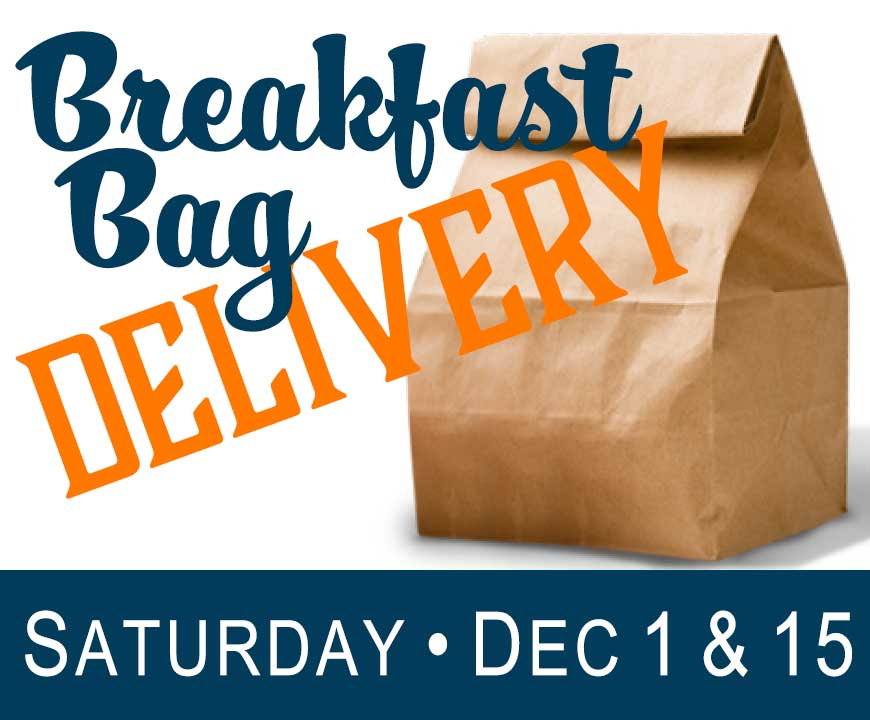 Saturday Breakfast Bag Delivery - December 2018
