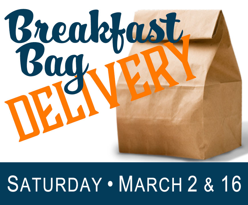 Saturday Breakfast Bag Delivery - March 2019