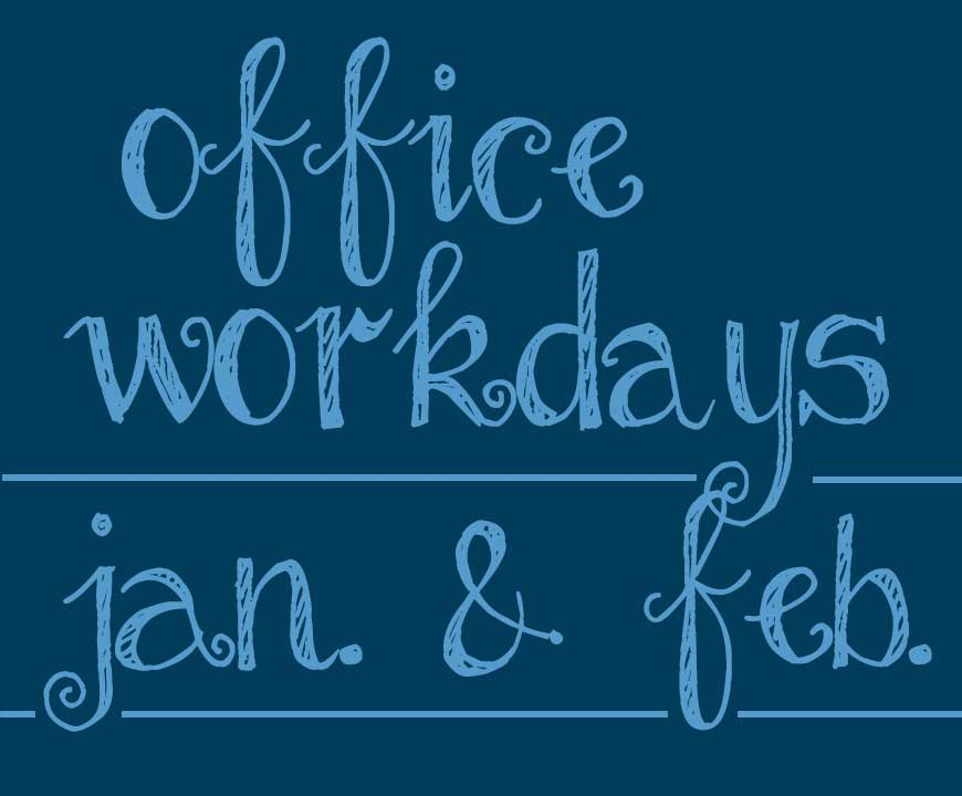 January & February WorkDays 2020