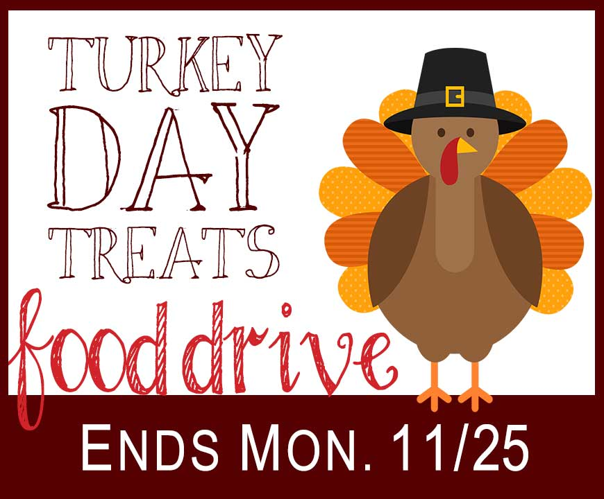 Turkey Day Treats Food Drive 2019